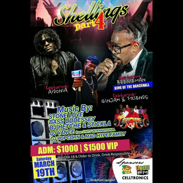 STONE LOVE AND BASS ODYSSEY AT SHELLINGS PART4 IN GUYS HILL ST CATHERINE MARCH 2016