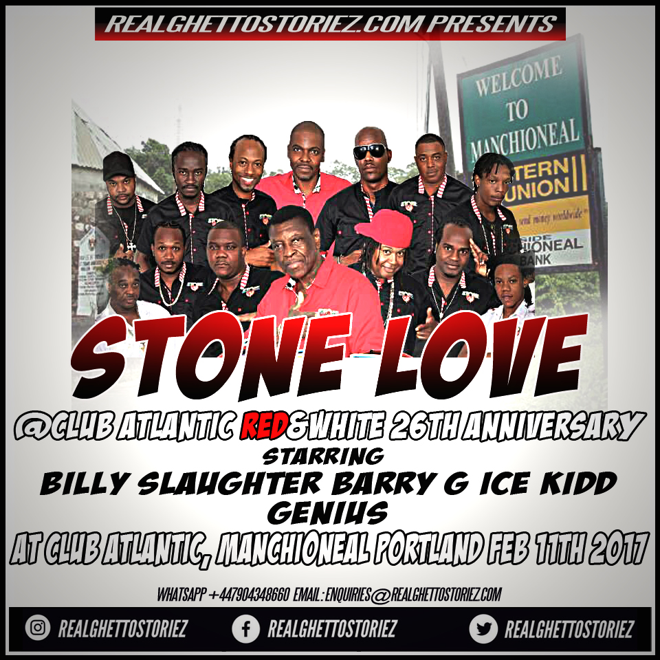 STONE LOVE AT CLUB ATLANTIC RED N WHITE 26TH ANNIVERSARY 11TH FEB 2017