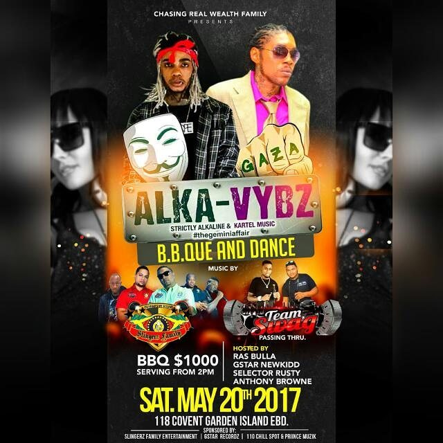 SLINGERZ FAMILY AT ALKA VYBZ B.B.Q AND DANCE- SAT MAY 20TH  2017