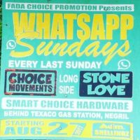 CHOICE MOVEMENTS LS STONE LOVE AT WHATSAPP SUNDAY 27TH AUGUST 2017