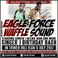 EAGLE FORCE AND WAFFLE SOUND AT SINGER J BIRTHDAY IN TOWER HILL 11TH JULY 2017
