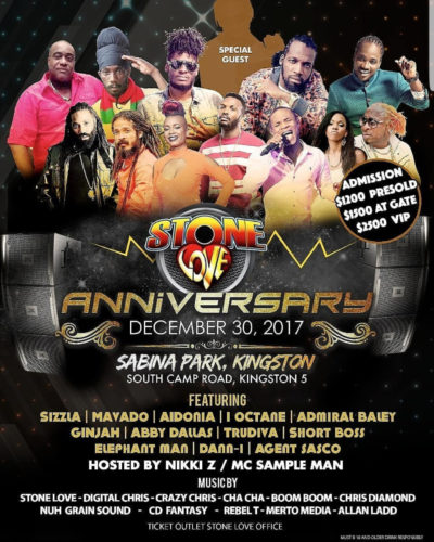 STONE LOVE 45TH ANNIVERSARY AT SABINA PARK 30TH DECEMBER 2017