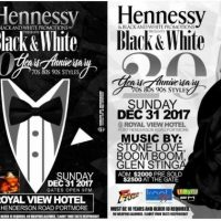 HENNESSY BLACK N WHITE 20TH ANNIVERSARY AT ROYAL VIEW 31.12.17