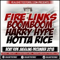 FIRE LINKS LS BOOM BOOM AND HOTTA RICE JUGGLING ON DI BOAT DEC 2018