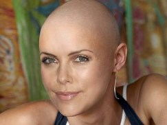 charlize theron shaved head real