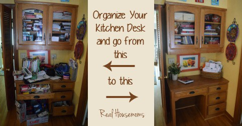 kitchen desk black cabinets for sale organization real housemoms