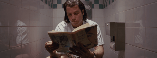 Pulp Fiction - Vincent en el baño