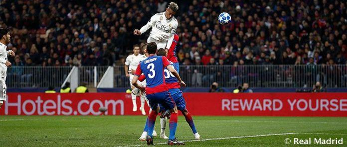 Mariano ante el CSKA. Fuente: realmadrid.com