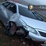 Motorista perde o controle do carro e capota na PI-366 entre José de Freitas e Lagoa Alegre