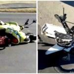 Colisão entre motos deixa mototaxista e grávida feridos