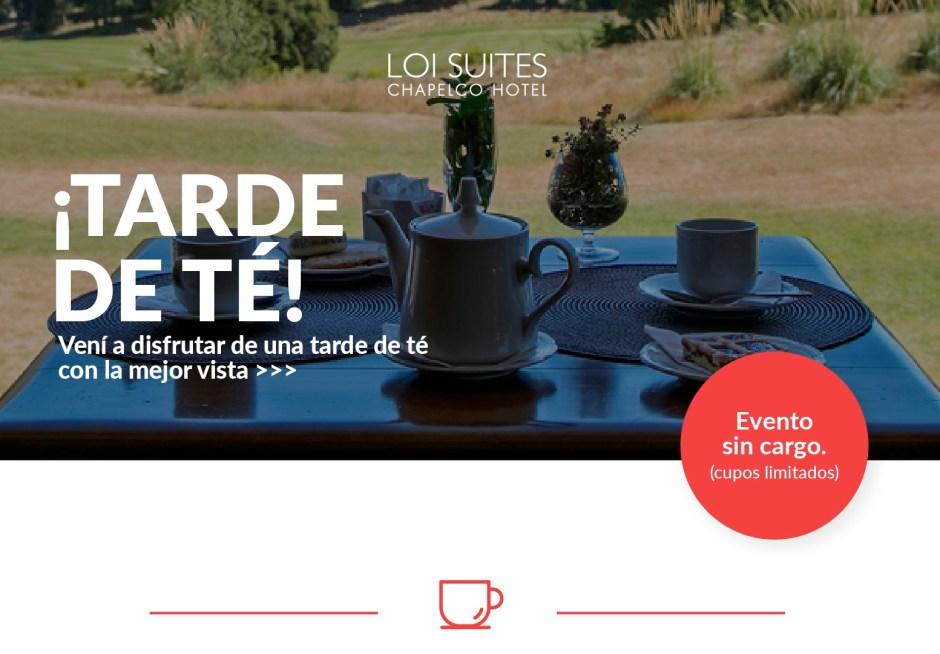 El Loi Suites Chapelco Hotel invita este sábado a disfrutar de una tarde de té