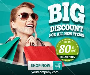 Marketing Banner ad 300x250 - Green