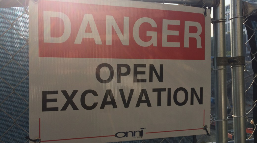 Danger: Open Excavation