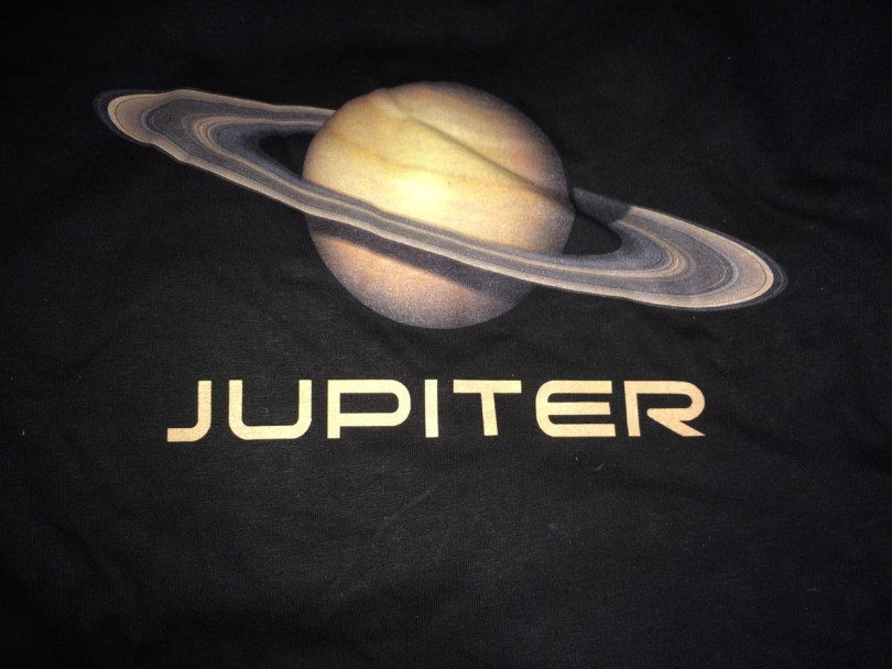 """A picture of Saturn that is labeled """"Jupiter"""""""