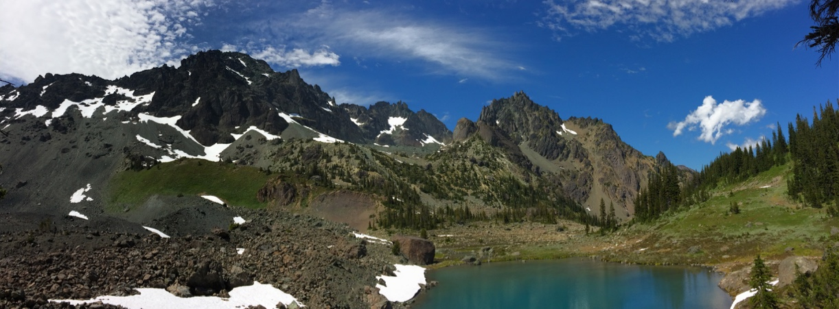 Subalpine Imperial Tarn ringed by Olympic Mountains