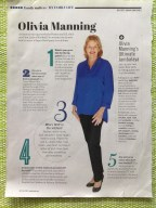 Olivia Manning in Feb,2013 Family Circle magazine