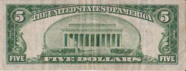 Old Five Dollar Bill - 1934