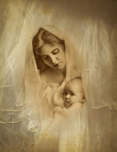 Gibson Art Co Vintage Mother and Child