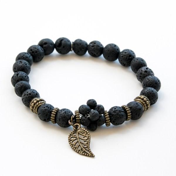 Bracelet lave noire