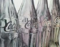 """Autor: Virginia Rodríguez Cañete Título: """"Four Cokes"""" Dimensiones: 65x50 cms Técnica: bolígrafo sobre papel"""