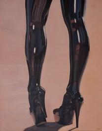 Autor: Iván Calle Solana. Titulo: Latex-tura. Dimensiones: 92 x 73 cm. Tecnica: Oleo sobre tabla.