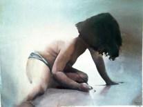 Autor: Manuel Ángel Reina. Título: Candela. Técnica: Óleo sobre lienzo Dimensiones: 130X97 cms