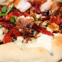 Wood-Grilled Chicken with Sundried Tomato Flatbread