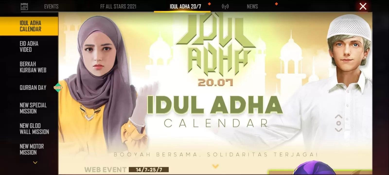 Kode Stamp FF Berkah Qurban 2021