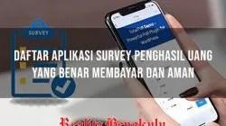 Aplikasi Survey Penghasil Uang