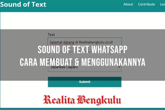 Sound of Text WhatsApp