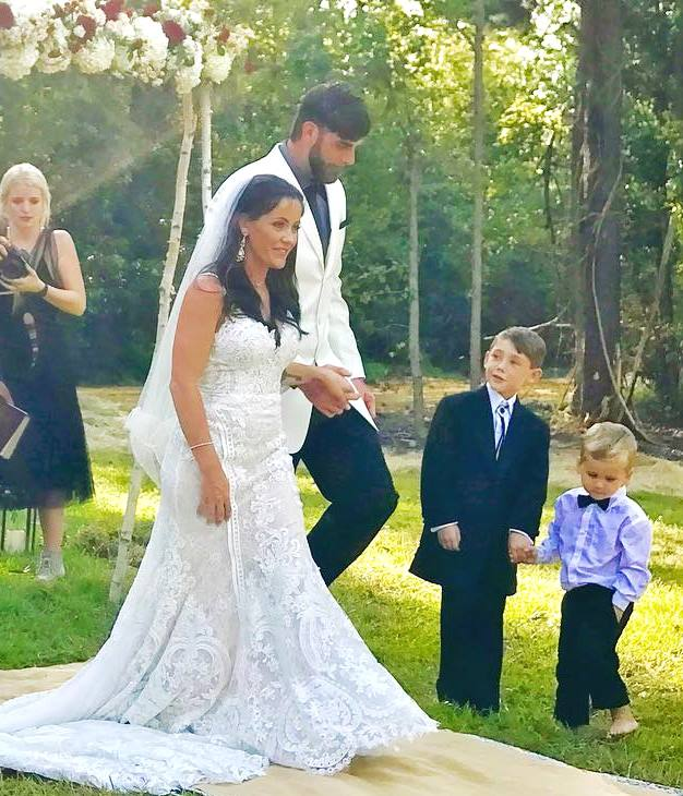 Jenelle Evans and David Eason Wedding Day Picture