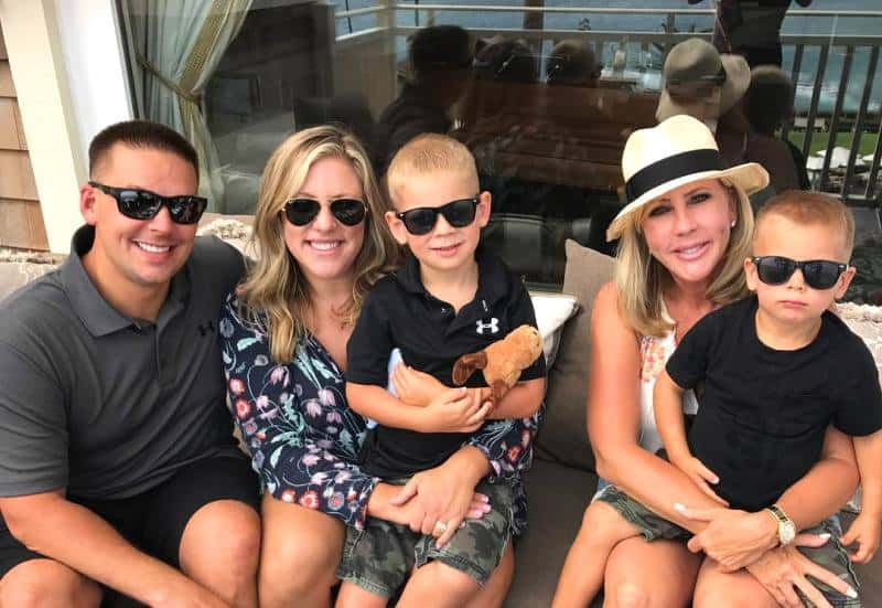 RHOC's Vicki Gunvalson with daughter Briana and son-in-law Ryan Culberson