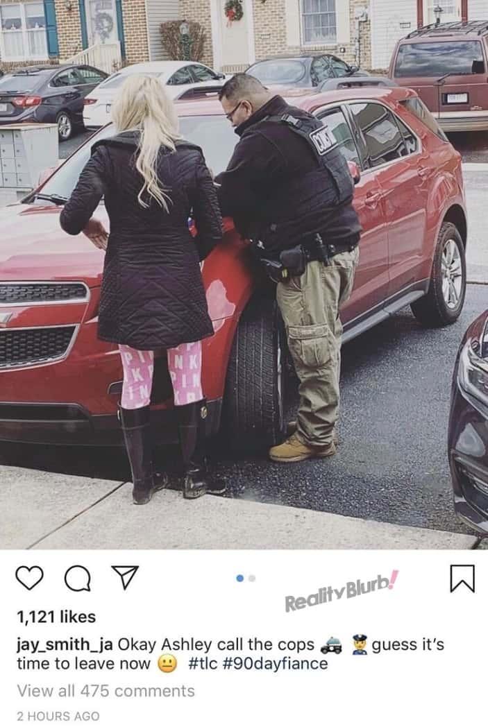 90 Day Fiance Ashley Calls Cops on Jay