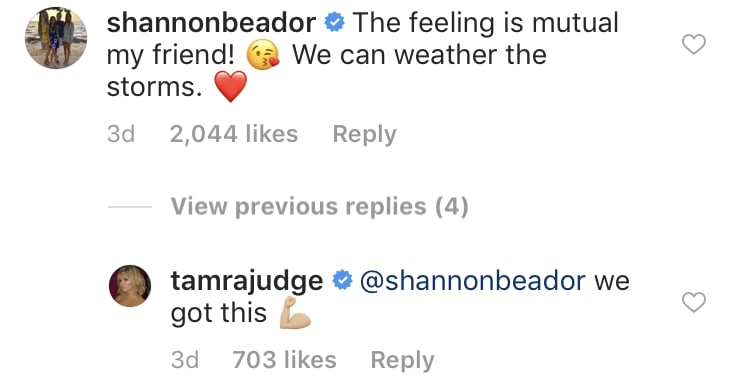 RHOC Tamra and Shannon Reconcile