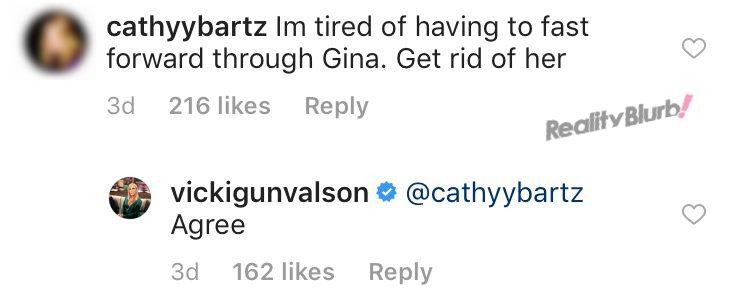 Vicki Gunvalson wants Gina fired from RHOC