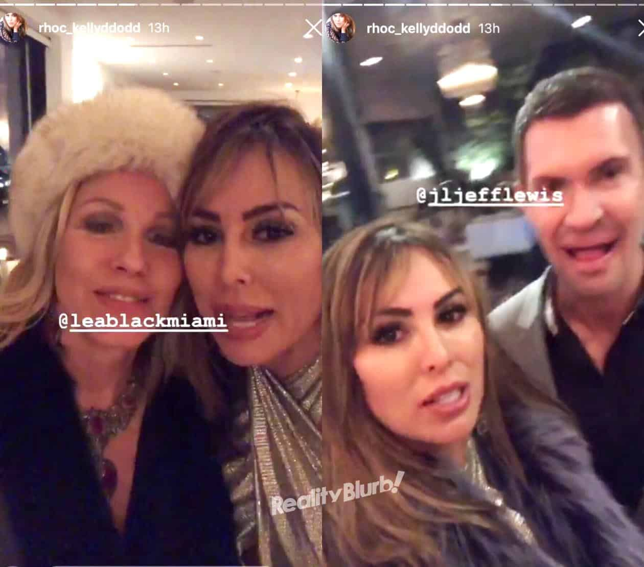 Kelly Dodd party with Lea Black and Jeff Lewis
