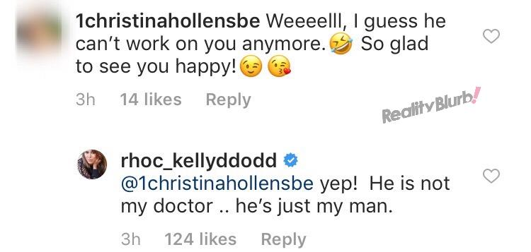 Kelly says new boyfriend is not her doctor