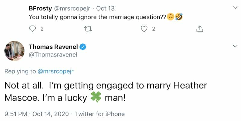Southern Charm Thomas Ravenel Confirms Plans to Marry Heather Mascoe
