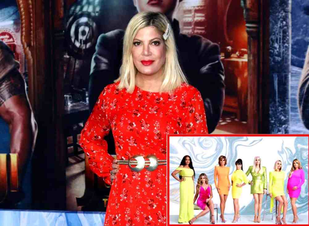 """REPORT: Tori Spelling is Joining RHOBH Cast in """"Friend"""" Role for Season 11 Amid Her Mom's Issues With Fellow Rumored """"Friend"""" Kathy Hilton, Plus What Erika Jayne Said About Tori's Potential Addition"""