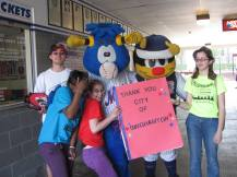 Binghamton RC at a Binghamton Mets game