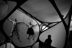 Charles and Ray Eames held in Zaha's Dungeon