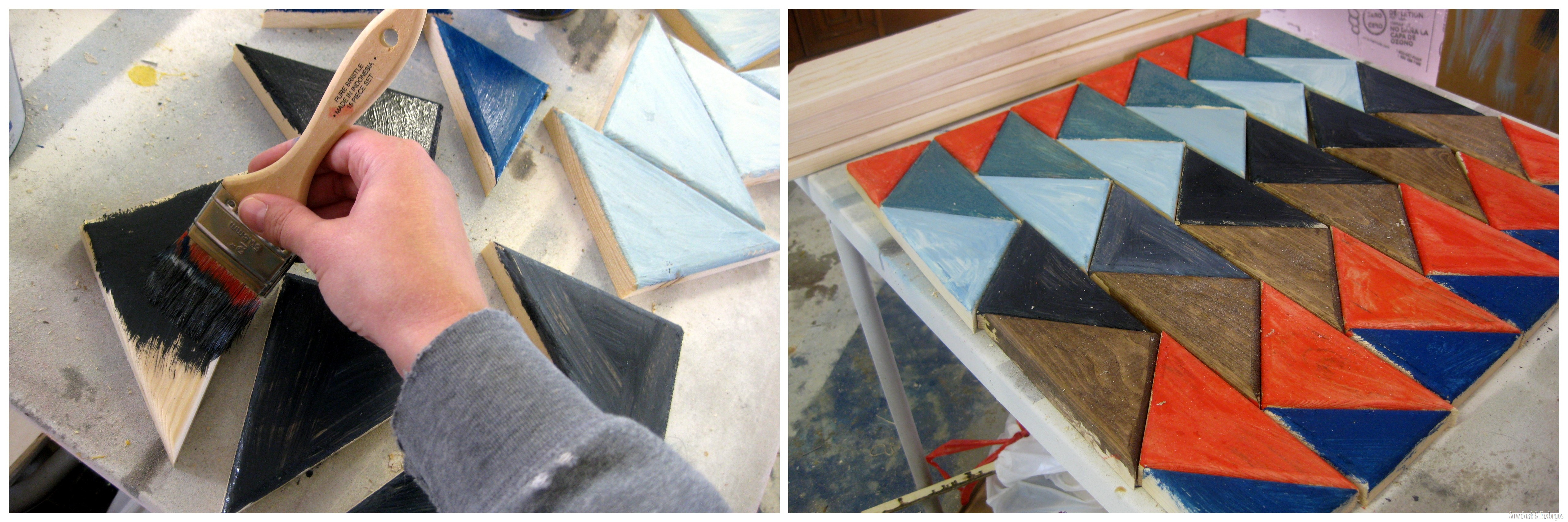 end table update triangle pattern