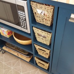Diy Rolling Kitchen Island Seamless Flooring Custom Reality Daydream This Was Built With A Butcher Block Top And