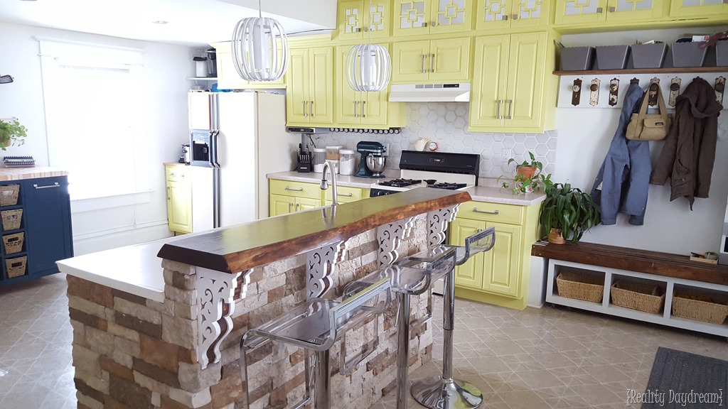 diy rolling kitchen island undermount white sink custom reality daydream see how the fits perfectly