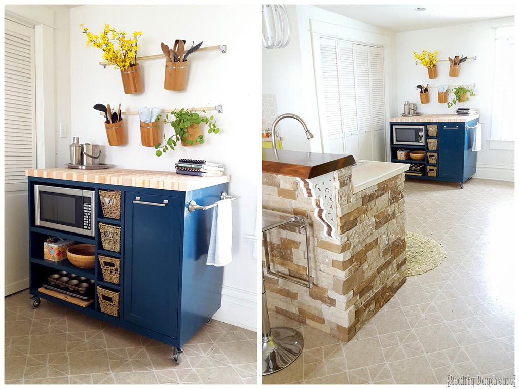 diy rolling kitchen island ready made cabinets custom reality daydream check out this build