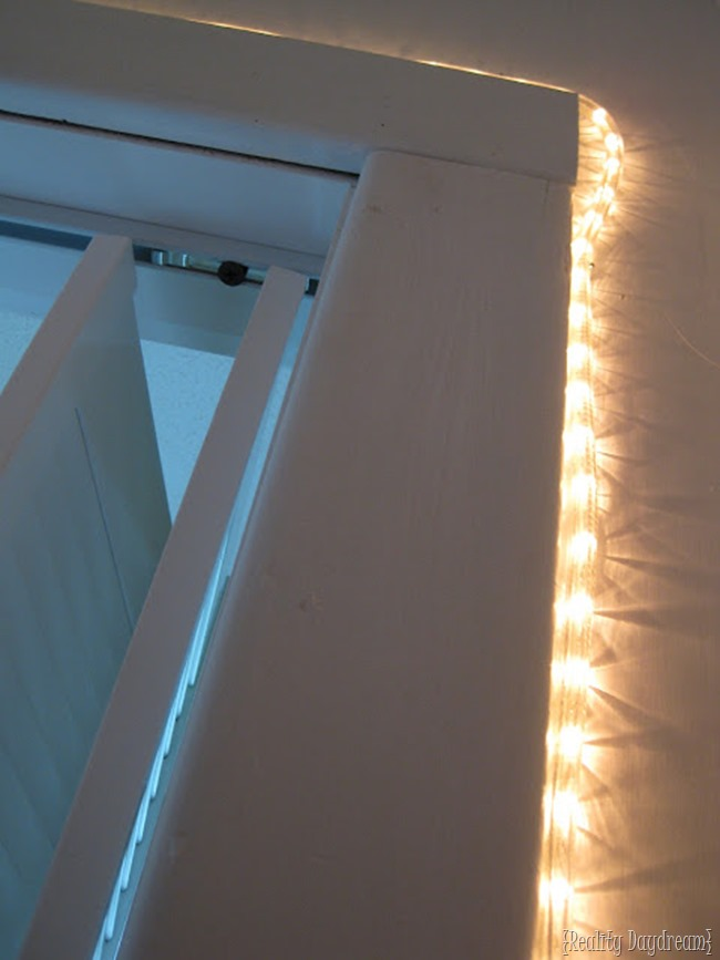 If you don't have a light in your closet (or want to add additional light) - add rope lighting like she did! | Reality Daydream - Closet Organization Ideas and Space Saving Hacks