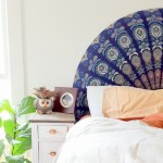 Rounded Upholstered Boho Headboard Reality Daydream