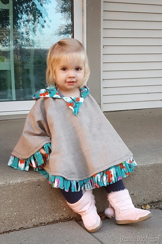 Baby Poncho Sewing Pattern : poncho, sewing, pattern, Poncho, Tutorial, Fleece-lined!, {Reality, Daydream}