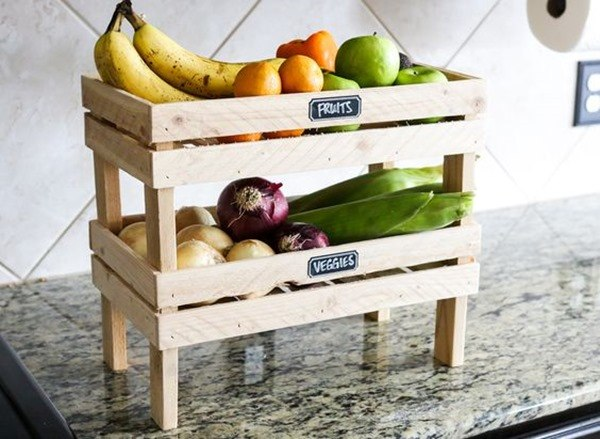Stackable Fruit and Veggie Crates - organization for ANYTHING really! {Jen Woodhouse}