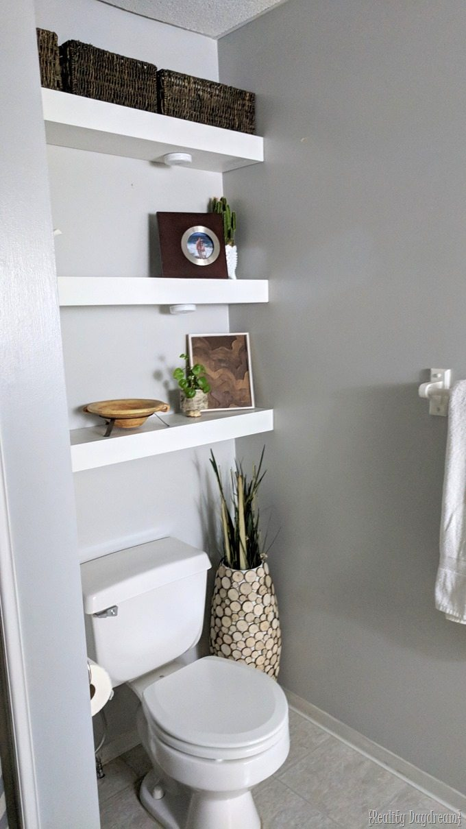 Built In Bathroom Shelves How To Build Diy Floating Shelves Reality Day Dream